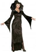 Edle Vampir-Gräfin Halloween-Damenkostüm schwarz