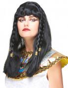 Cleopatra Zöpfe-Perücke schwarz-gold