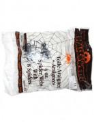 Spinnennetz mit 8 Spinnen Halloweenparty-Deko weiss-schwarz