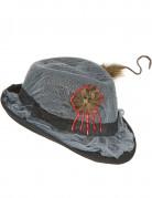 Halloween-Hut mit Ratte Kostüm-Accessoire grau-schwarz-braun