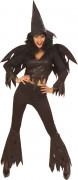 Wilde Hexe Damenkostüm mit Flügeln schwarz