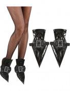 Schuh-Überzieher Hexe schwarz-silber