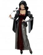 Barock Vampirin Halloween Damenkostüm schwarz-bordeaux