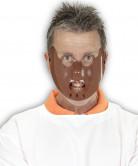 Halloween Maske Kannibale braun