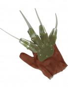 Klingen-Handschuh Serienkiller Halloween-Accessoire braun-grün
