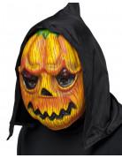 Kürbis Maske orange-gelb-grün