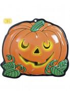 Halloween-Wanddekoration Kürbis 25 x 22 cm orange-grün