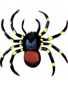 Spinnen Halloween Deko 2er-Set schwarz-gelb-rot 10cm