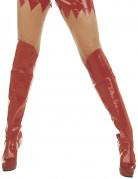 Stiefel Überzieher Sexy Stulpen Kostümaccessoire rot 60 cm 36 cm breit an der Wade
