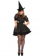 Hexe Zauberin Halloween-Damenkostüm Plus Size schwarz