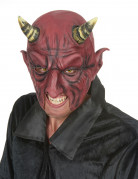 Teufel Halbmaske aus Latex Kostümaccessoire rot