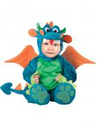 Süßer Drache Babykostüm blau-grün-orange