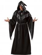 Dunkler Hexenmeister Halloween-Herrenkostüm schwarz