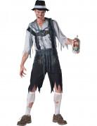 Zombie-Bayer Halloween-Herrenkostüm schwarz-grau