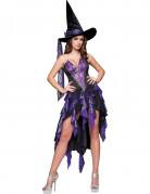 Verführerische Hexe Halloween-Damenkostüm violett-schwarz