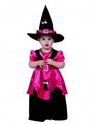 Kleine Hexe mit Katze Kleinkinder-Kostüm pink-schwarz