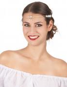 Tiara Kopfschmuck mit Schmuckstein gold-silber