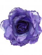 Rose Haarschmuck Kostümaccessoire violett 10 x 10 cm