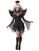 Fallen Angel Halloween-Damenkostüm Engel schwarz