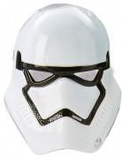 Deluxe Stormtrooper™-Halbmaske für Kinder Star Wars VII™ weiss-schwarz 23x19,5cm