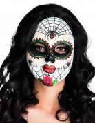 Dia de los Muertos Maske mit Spinnen bunt