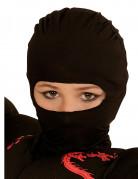 Ninja-Kapuze Sturmhaube für Kinder schwarz