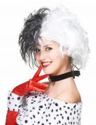 Kurze Damenperücke Karneval Kostümzubehör schwarz-weiss