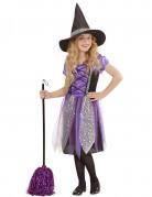 Süsse Hexe Halloween-Kinderkostüm Magierin lila-schwarz