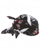 Seeräuber-Kopftuch Piratenkostüm-Accessoire schwarz-weiss 54x54cm