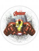 Iron Man™-Kuchendeko rot-weiss-grau 20 cm