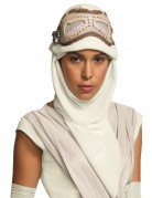 Rey-Maske mit Kapuzenmütze Star Wars VII™ weiss-braun