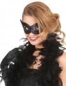 Pailletten-Maske Venezianische Maske für Erwachsene schwarz