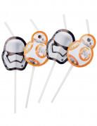 Strohhalm-Set Star Wars VII™ 6 Stück schwarz-weiss-orange 23,5cm