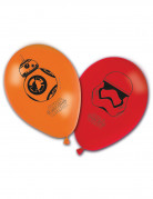 Star Wars VII™ Luftballons 8 Stück orange-rot