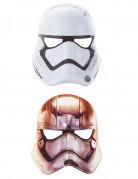 Star Wars VII™-Masken Stromtrooper Captain Phasma 6 Stück schwarz-weiss-silber 20x22cm