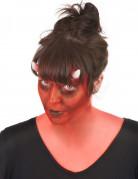 DämonTeufelin Make-Up-Set mit Kontaktlinsen schwarz-rot-weiss