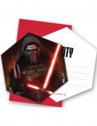Star Wars™-Einladungskarten 6 Stück 11x12cm