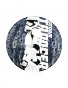 Stormtrooper™-Pappteller Star Wars™ 8 Stück Tisch-Deko blau-weiss