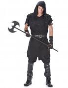 Mittelalter Henker Halloweenkostüm schwarz
