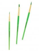 Set mit 3 Schminkpinseln von Snazaroo grün-gold
