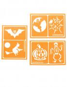 Halloween-Schminkschablonen Snazaroo™ 6 Stück orange 6x8,5cm