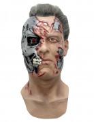 Terminator Genisys™ T-800 Latexmaske hautfarben-silber