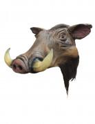 Handbemalte Wildschwein-Maske aus Latex braun
