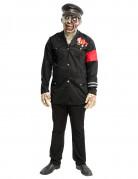 Zombie-Soldat Halloween Herrenkostüm schwarz-rot
