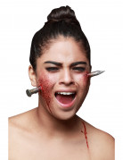 Nagel im Kopf Halloween-Wundenapplikation silber