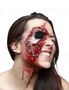 Halloween-Make-up Gesichtswunde mit fehlendem Auge schwarz-rot