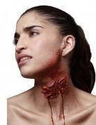 Aufgerissener Hals Halloweenwunde rot 10,5x5cm