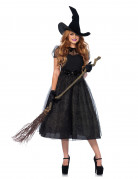 Elegante Hexe Plus Size Damenkostüm Zauberin schwarz