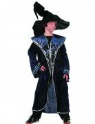 Zauberer Kinder-Kostüm mit Sternen blau-silber