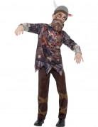 Zombie-Wikinger Halloween-Kinderkostüm bunt